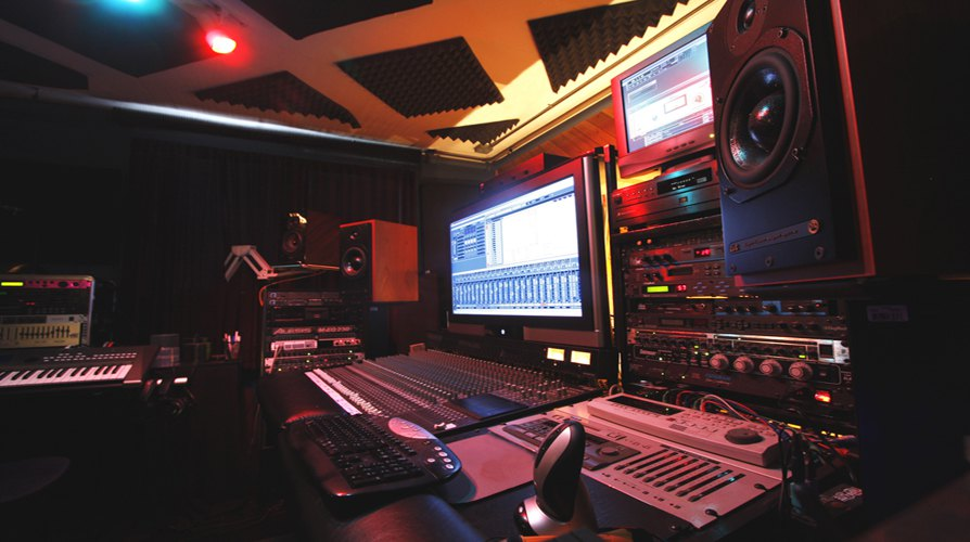 Recording Studio Control Room - Queens New York City - Side View