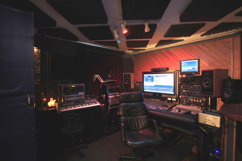 Recording Studio Control Room Long View